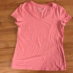 Fitted small light pink T-shirt